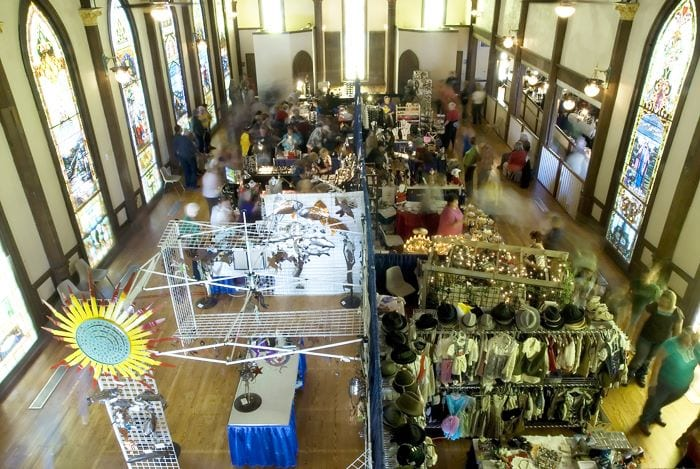 Numerous booths and vendors display their wares at the Lyceum!