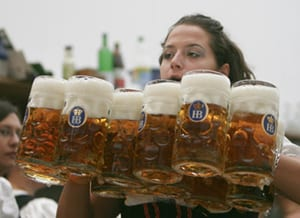 German Oktoberfest Beermaid
